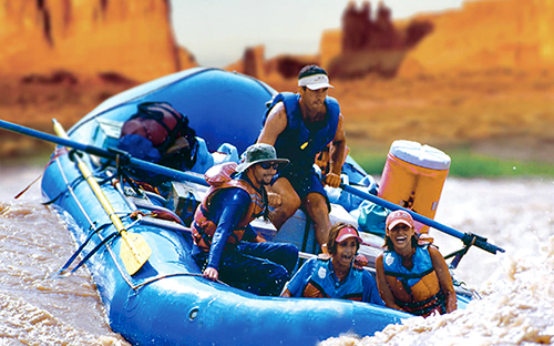 Rafting through Cataract Canyon in the Canyonlands National Park
