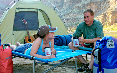 Camping in Cataract Canyon after a day of white water rafting