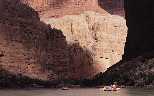 Grand Canyon Rafting smooth water trip