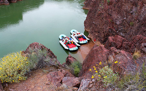 Rafting on the Colorado River in the Grand Canyon